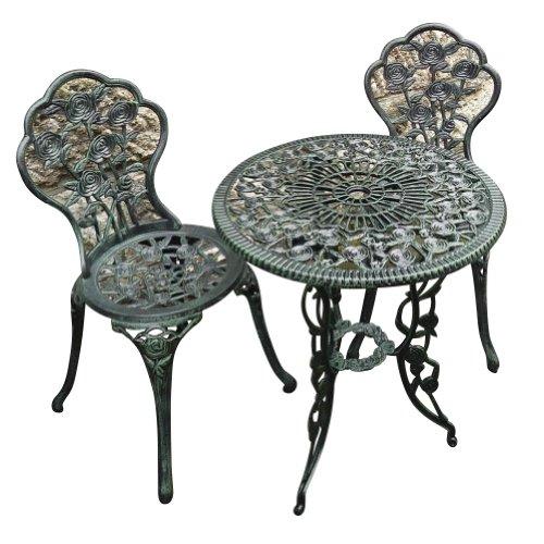 【ジャービス商事】鋳物テーブル3点セット(中)SH 【 ジャービス / 鋳物テーブル3点セット (中) / 13036 】