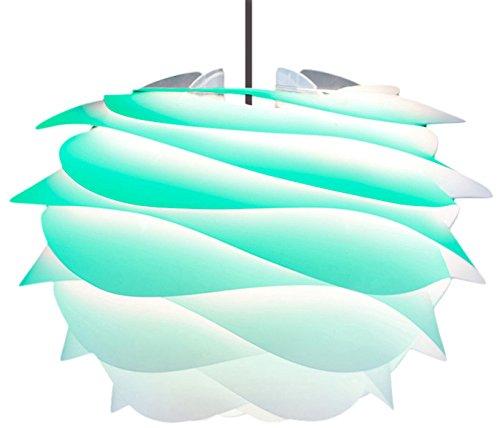 ヴィータ 北欧デンマーク ペンダントライト カルミナ ミニ 1灯タイプ セード:ターコイズ/コード:ブラック 電球別売 02059-BK エルックス
