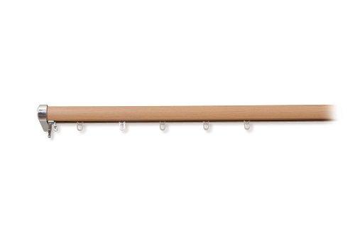 フルネス 木目調伸縮カーテンレール ロアール 3M シングル 木目 ミディアム