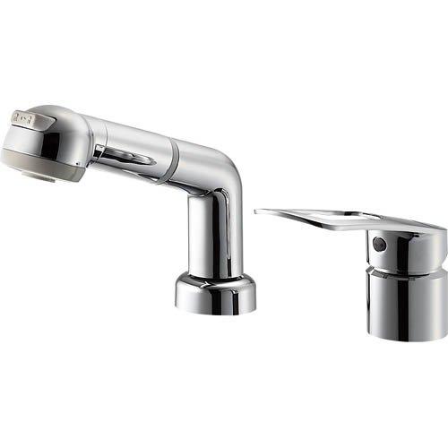 三栄水栓 節約・エコ シングルスプレー混合栓 寒冷地仕様 引出シャワー式