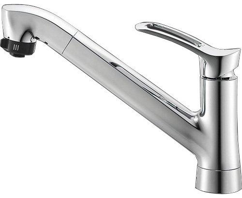 三栄水栓 【キッチン用混合栓】 シングルワンホールスプレー混合栓 K87120TJV
