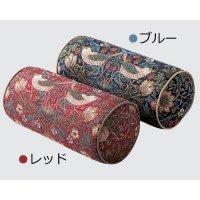 川島織物セルコン モリスデザインスタジオ いちご泥棒 ボルスター型クッション 40×18Rcm LL1710 ブルー 1010698