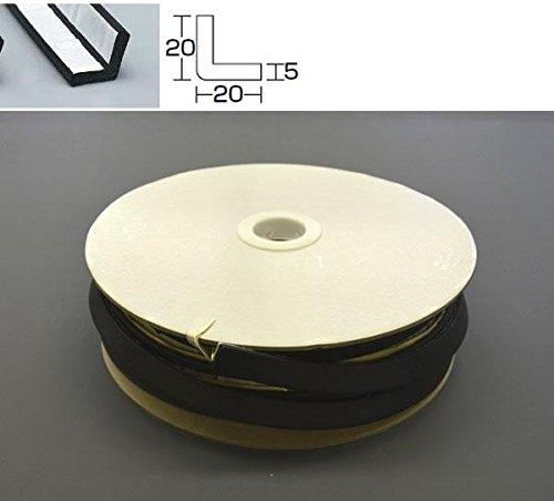 光 L型スポンジ巻粘着 5×20 KSL220-20TW20m