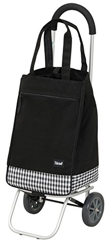 幸和製作所 アルミ製ショッピングカー(トートバックタイプ) ブラック PS-102 / カートとバッグの2WAY♪バッグが取り外せるショッピングカート!!