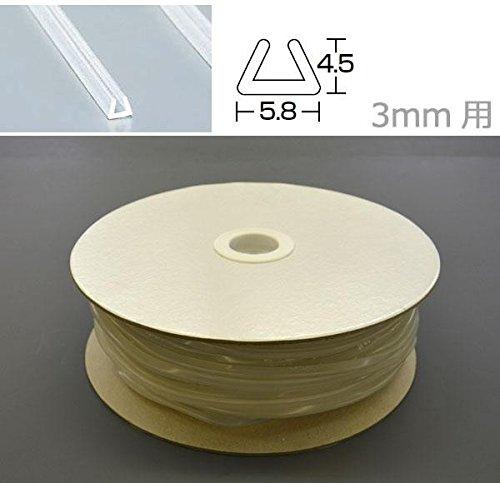 光 シリコンチューブ角溝 5.8×4.5×1m SCK3-100W