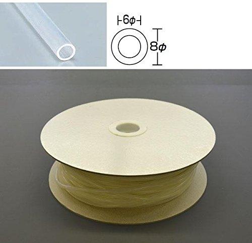 光 シリコンチューブ ドラム巻 8φ 60m巻 SC08-60W 60m