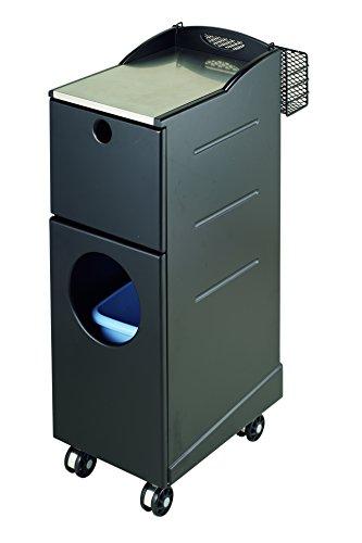 西村製作所 水回り作業補助ワゴン 001(ブラック)