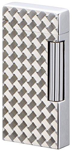 【 SAROME(サロメ) 】 ガス ライター SD6A フリント式 両面彫刻 ワイヤーメッシュ ダイヤカット シルバー SD6A-11 ガスライター フリント フリント式ライター 火打石 フリント着火式ライター コレクション 喫煙具 ライター ガスライター