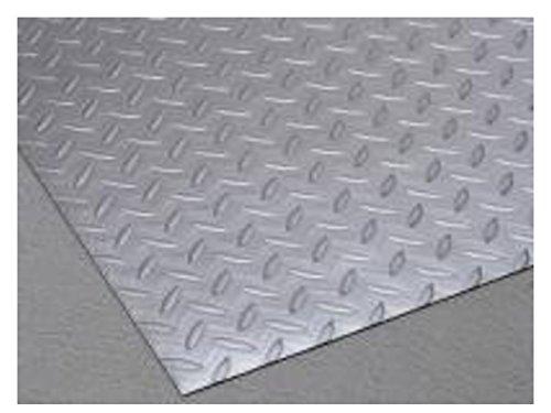 テラモト リサイクル長マット縞鋼板シルバー MR1571205