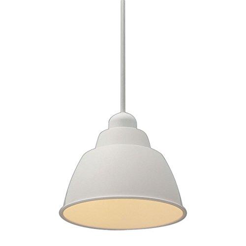 アイリスオーヤマ LEDペンダントライト LED電球セット Gammel Plas ホーロー調 Sサイズ ホワイト PL5L-E17PE1-W / インテリア ライト 照明 シーリングライト 天井照明 洋風ペンダントライト