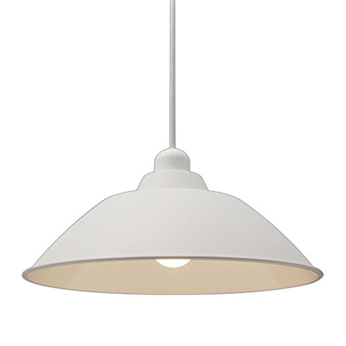 アイリスオーヤマ LEDペンダントライト LED電球セット Gammel Plas ホーロー調 Mサイズ ホワイト PL8L-E26PE1‐W / インテリア ライト 照明 シーリングライト 天井照明 洋風ペンダントライト