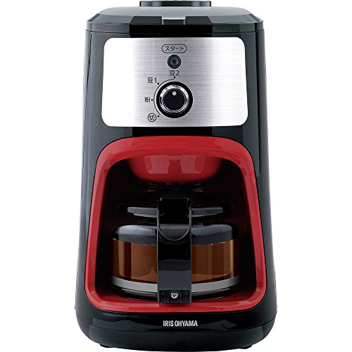アイリスオーヤマ コーヒーメーカー 全自動 メッシュフィルター付き 1~4杯用 ブラック IAC-A600 / 家電 キッチン家電 コーヒーメーカー