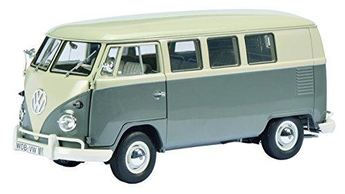 VW T1 バス/パールホワイト/グレー/1/18/株式会社 国際貿易/450037500/4007864003754