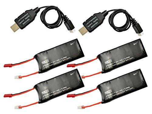 バッテリーセット(バッテリー4個,充電器2個)(X4DESIRE)/ハイテックマルチプレックスジャパン/H502-21/6922572404373