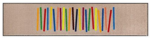 クリーンテックス キッチンマット 『 wash + dry (ウォッシュアンドドライ) Modern Interior / Mixed Stripes / 60×260cm / C011F 』 台所マット