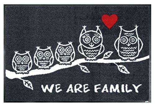 クリーンテックス 玄関マット 『 wash + dry (ウォッシュアンドドライ) Animal + Friends / We are Family / 50×75cm / G023A 』 エントランスマット