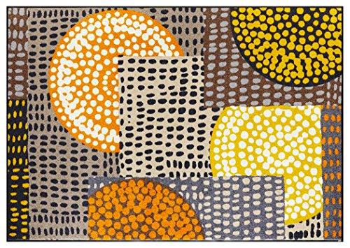クリーンテックス ラグ 『 wash + dry (ウォッシュアンドドライ) Modern Interior / Ethno Pop orange / 140×200cm / C023K 』 マット