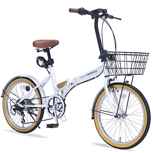 折畳自転車20・6SP・オールインワン/ ホワイト/ M-252/ 4547035 125217/ W 株式会社 池商