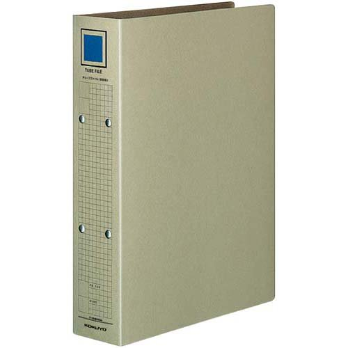 【80セット販売】コクヨ/チューブファイル(保存用)クラフトボードA4縦500枚収容2穴グレー フ-VM650M/52180620/4901480148724