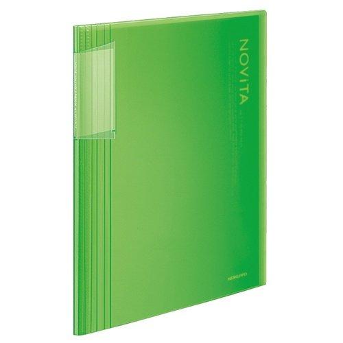 【10セット販売】コクヨ/クリヤーブック<ノビータ>固定A4縦40枚透明ライトグリーン ラ-N40LG/ラ-N40LG/4901480258485