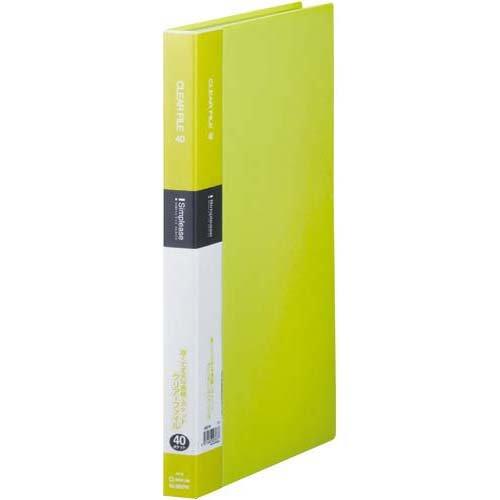 【32セット販売】キングジム/シンプリ-ズクリア-ファイル40P 黄緑/136SPWキミ/4971660023714