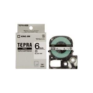 【50セット販売】キングジム/PROテープカートリッジ・白ラベル/SS6K/4971660762200