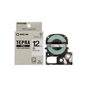 【50セット販売】キングジム/PROテープカートリッジ・白ラベル/SS12K/4971660762408