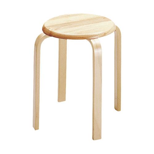 【6脚セット】天然木製シンプル スツール ナチュラル スタッキングチェア スタッキングチェアー チェアー イス 椅子 いす 丸いす スツール 木製 簡易イス 積み重ね ミーティング 来客用 背もたれなし 待合室 丸椅子 丸イス ★ スツール / W-1030-NA ★