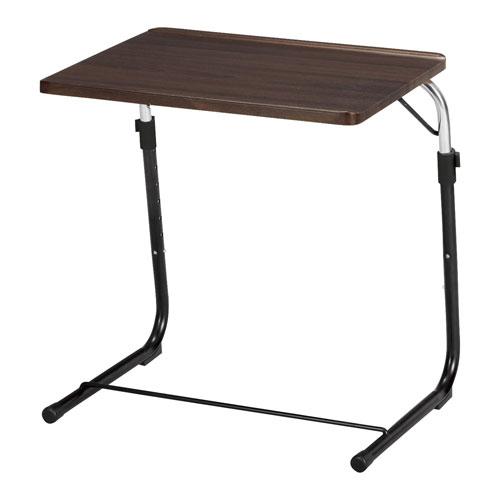 FLS-1(BR)/フォールディング サイドテーブル ナチュラル折りたたみ式 ソファテーブル ナイトテーブル ベッドテーブル 高さ調節 机 台 木製調 書斎 ロータイプ ミニテーブル 小物台 ★ フォールディングサイドテーブル / FLS-1-BR ★