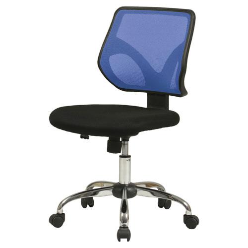 KHC-001(BL)/メッシュバックチェア 昇降式 オフィスチェア オフィスチェアー デスクチェア パソコンチェア パソコンチェアー ロッキングチェア 椅子 いす イス キャスター 高さ調節 ロッキング機能付 ★ メッシュバックチェア / KHC-001-BL ★