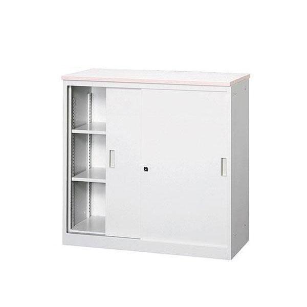 オフィス・店舗向け システムカウンター 書庫型ハイカウンター 鍵付 天板W900×D450mm グレー・COM-CVA-9HS-G 1062396