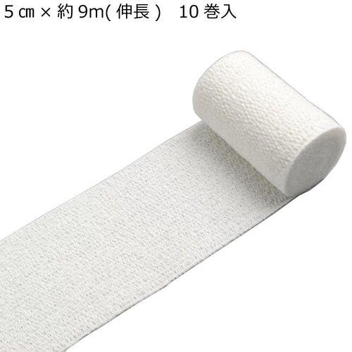 【まとめ買い20個】竹虎 ノンスコレッチ 伸縮包帯 No.6 5cm×約9m(伸長) 10巻入 021346