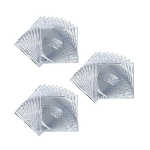 【まとめ買い21個】サンワサプライ DVD・CDケース(クリア) 30枚セット FCD-PN30C