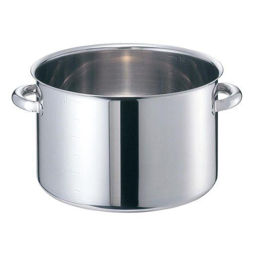 EBM モリブデンジII 半寸胴鍋(目盛付)36cm 蓋無 8689500