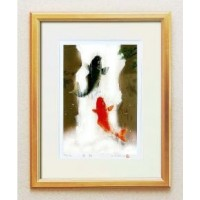 【35%OFF】 14814 吉岡浩太郎「開運」風水額(大衣)/ 「夫婦滝昇り鯉」 金 14814 金/ 美しい色彩と発色が魅力の本物のシルク版画です。, 新顔野菜で健康SHOP:fcab472c --- hortafacil.dominiotemporario.com