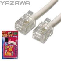 【10個セット】YAZAWA(ヤザワコーポレーション) ツイストモジュラーケーブル10m TP3100W