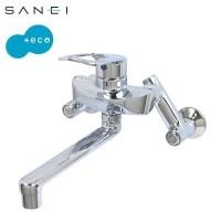 三栄水栓 節約・エコ シングル混合栓 取付けしやすいベンリー偏心管 / 節約機能にこだわった水まわりシリーズ。