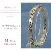 MARE(マーレ) スワロフスキー&ゲルマニウムブレスレット PT/IP ミラー 136M 18cm H9300-08M 1053824 / スワロフスキーが輝くシンプルで上品なブレスレット。