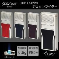 【 SAROME(サロメ) 】 ガス ライター 3BM1 ターボライター 日本製 ブラック 3BM1-01 ガスライター ジェットライター ジェットガスライター ターボライター ターボガスライター 風に強い コレクション 喫煙具 ライター ガスライター