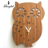 最高級のスーパー DECOYLAB ANIMAL 文字盤あり BAMBOO BAMBOO クロック フクロウ フクロウ 文字盤あり BO/ 日本人デザイナーがアメリカからお贈りする温もりのある時計。, 買取横丁:e1dd92dd --- clftranspo.dominiotemporario.com