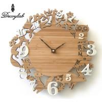 DECOYLAB DECOLATIVE クロック イッツ マイ フォレスト 竹・アクリル IMF-BI / 日本人デザイナーがアメリカからお贈りする温もりのある時計。