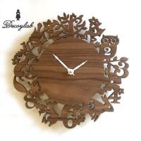 DECOYLAB DECOLATIVE クロック イッツ マイ フォレスト ウォルナット IMF-W / 日本人デザイナーがアメリカからお贈りする温もりのある時計。