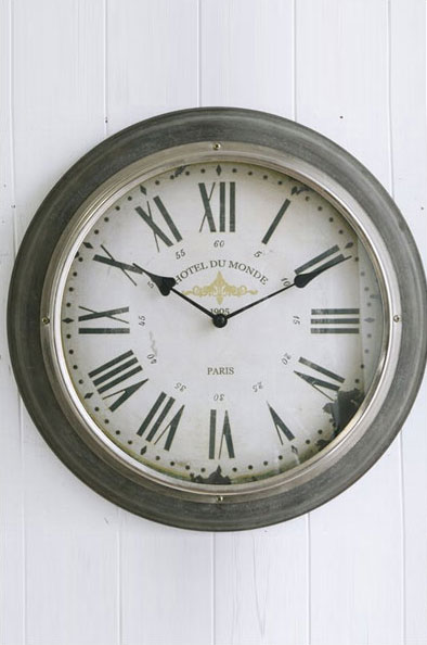 【 COVENT GARDEN / シルバーリム・ウォールクロック / BR-59 】 壁掛け時計 掛け時計 ウォールクロック おしゃれ アンティーク風 丸型 円形 ラウンド 時計 クロック / コベントガーデン コベント・ガーデン