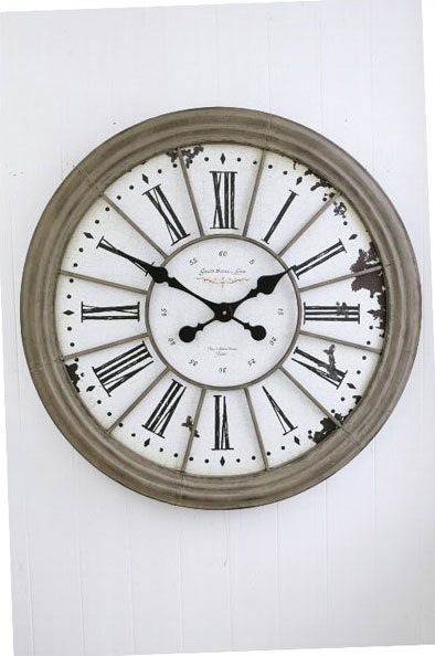 【 COVENT GARDEN / ルーヴル・ラージクロック / BX-92 】 壁掛け時計 掛け時計 ウォールクロック おしゃれ アンティーク風 丸型 円形 ラウンド 時計 クロック / コベントガーデン コベント・ガーデン