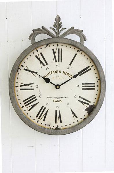 【 COVENT GARDEN / グレーシュ・ウォールクロック / BX-93 】 壁掛け時計 掛け時計 ウォールクロック おしゃれ アンティーク風 丸型 円形 ラウンド 時計 クロック / コベントガーデン コベント・ガーデン