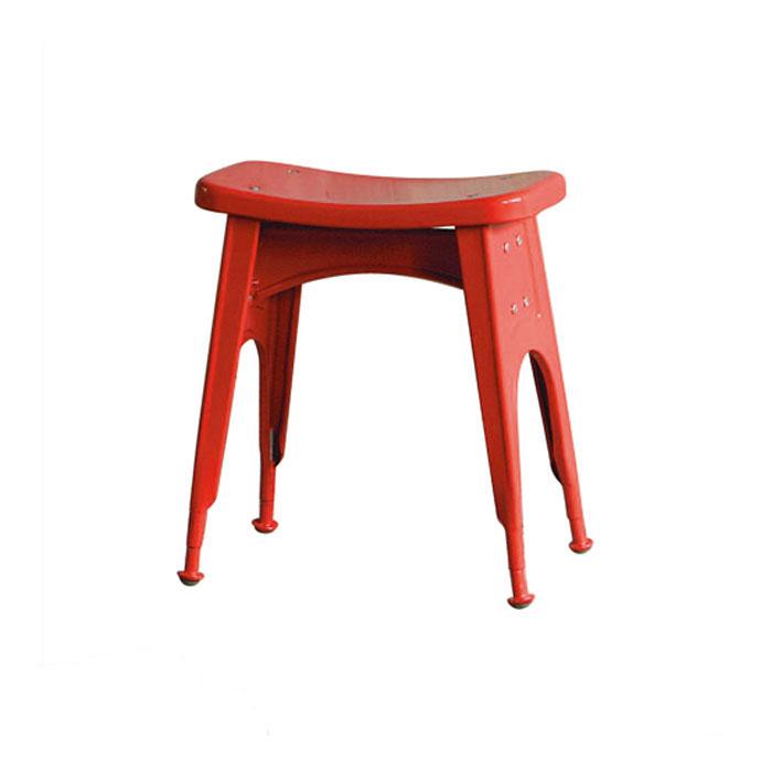 【 DULTON KITCHEN STOOL RED 112-281RD 】 スツール (背もたれなし) スチールスツール 金属 おしゃれ ユニーク 個性的 イス 椅子 ダルトン キッチン スツール レッド