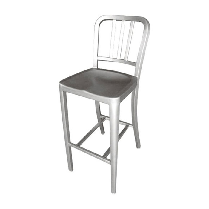 【 DULTON ALUMINUM BAR STOOL ALC802C 】 バーチェア シンプル バースツール 背もたれ 有り アルミ製 アルミチェア イス 椅子 チェアー ダルトン アルミ バー スツール