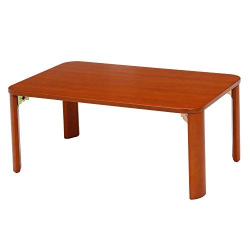 不二貿易 【 折脚ローテーブル(ブラウン) KSM-9060BR / 12841 】 テーブル ローテーブル