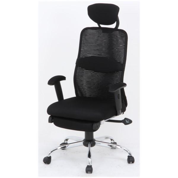 不二貿易 【 メッシュバックチェアー スリープBLACK / 50378 】 オフィスチェア