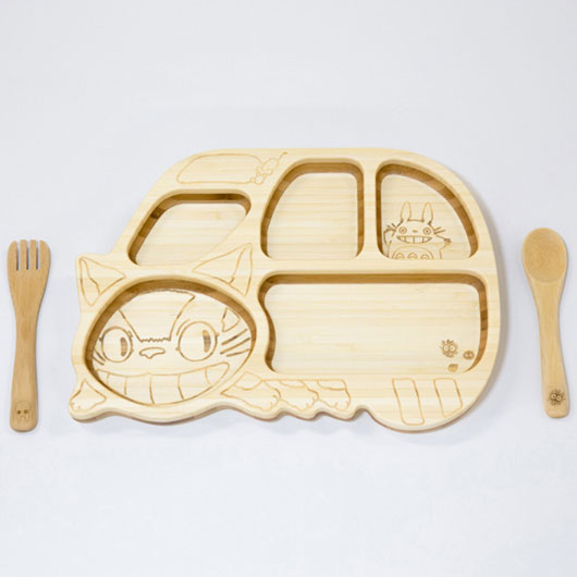 FUNFAM / FGBL-01-105 ねこバスプレート セット / 出産祝い 離乳食 ファンファン 食器セット 男の子 女の子 日本製 トトロ ネコバス / 4562364813185
